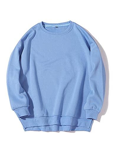 Women's Cotton Long Sleeve Crewneck Sweatshirts Pullover Shirts Tops