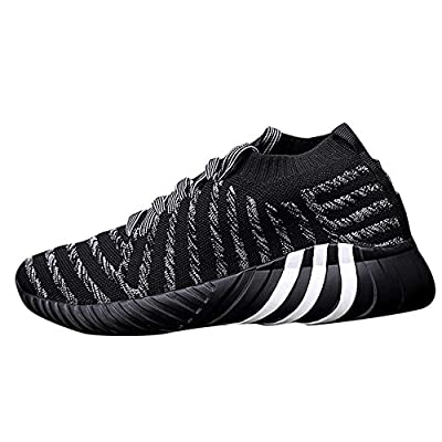 TIFENNY Spring and Autumn Classic Men Low-Cut Casual Sport Shoes New Stripe Fashion Lace-Up Socks Snakers