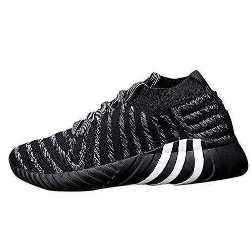 Baskets Fashion Homme, Manadlian Automne Chaussures de Sport Running Baskets Basses Rayure Basses de Respirant