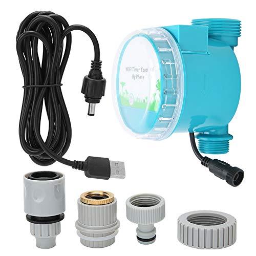 Oumefar Belüfteter Bewässerungs-Timer WiFi-Bewässerungsregler-Magnetventil 5 V für Balkon für Garten