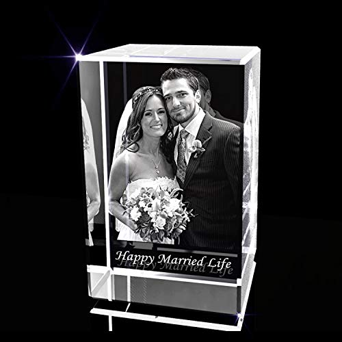 Personalized Anniversary Crystal Photo