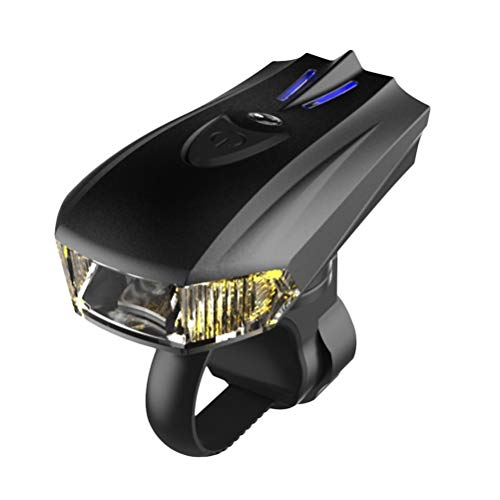 VORCOOL USB Rechargeable Smart LED Phare de vélo vélo lumières Route à vélo de sécurité Avant Lampe de Poche (Noir)