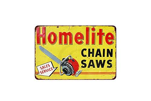 Thomas655 Vintage reproductie Homelite kettingzaag metalen plaat