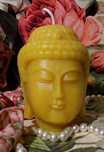 Beeswax Buddha Head Candle Yoga