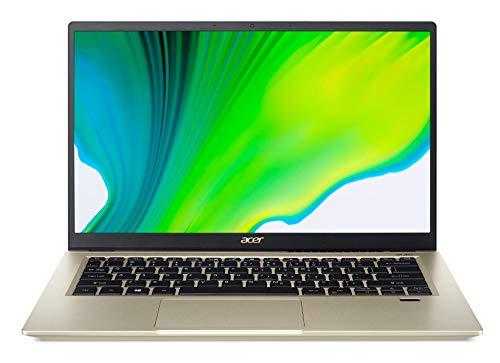 """Acer Swift 3X 14"""" (35.56 cms) FHD IPS Display Ultra T & L Notebook (Intel EVO i5 - 11th Gen/16 GB RAM+ 32GB Optane/512GB SSD/Win10/Microsoft Office 2019/Intel Iris Xe Max/Safari Gold/1.37Kg),SF314-59"""