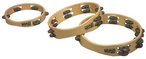 Toca T1010 Player's Wood Tambourine, 10-Inch Double Row