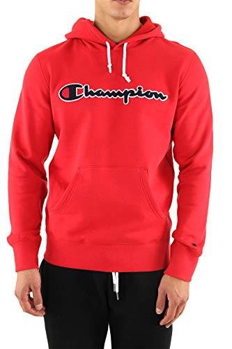 felpa champion Champion Felpa Uomo Rosso con Cappuccio e Logo Ricamato 213498RS053 L