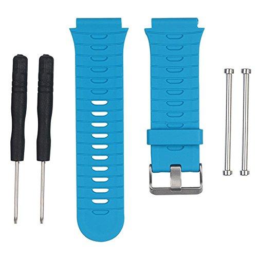Pulseira Silicone para Relógio Compatível Garmin 920xt Azul
