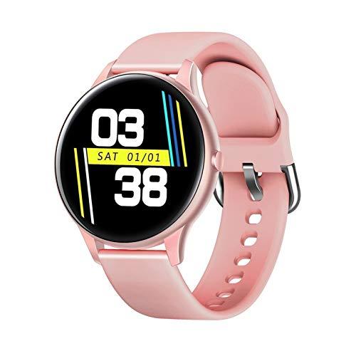 XUEMEI Mujeres Smart Watch K21 Termómetro De Cuerpo Pulsera Impermeable Masculino SmartWatch Hombres Fitness Pulsera para Android iOS Teléfono (Color : 003)
