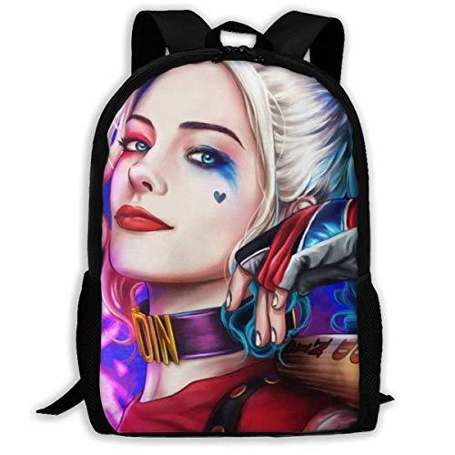 Harley Quinn Adult Travel Bapa Fits 15.6 Inch Laptop Bapas School College Bag Casual Rusa for Men & Women