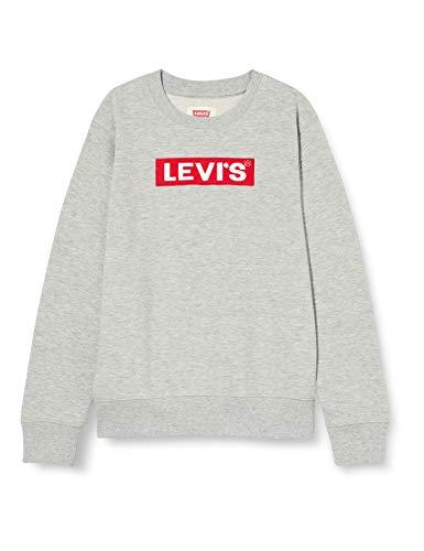 Levi's Kids Lvb Box Tab Crewneck Sweater Garçon Gris 6 ans