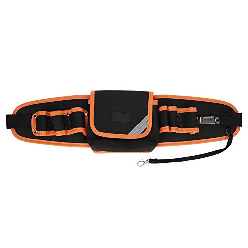 Huakii Multifunktionswerkzeuge Taillentasche, Werkzeugtasche, reißfeste Unterstützung Multi Tools für Schreiner Elektriker(6-Hole Middle Pocket Long Bag)