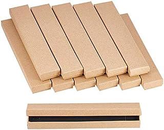 nbeads ギフトボックス 12個 無地 クラフト紙 ラッピング 箱 アクセサリーボックス 纸箱 リボンタイ ジュエリー収納ボックス プレゼントネックレスギフトボックス 21x4x2cm