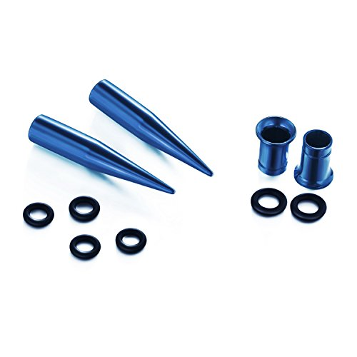 vcmart 14G-00G 36pcs Ear Gauges Stretching Kit Tapers Plugs Eyelets Implan   t Grade Steel