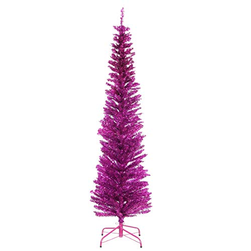 National Tree Company Artificial Christmas Tree   Includes Stand   Purple Tinsel...