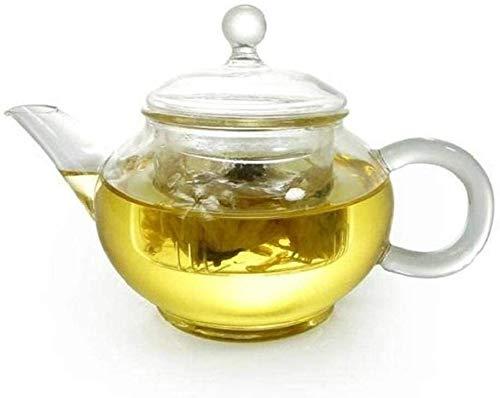 Bouilloire induction Théière claire Verre Infuser Couvercle Borosilicate Verre Tea Pots bouillir Tea Eau et café - Mini 250 ml pour le bureau de la maison en plein air WHLONG (Size : 250ml)