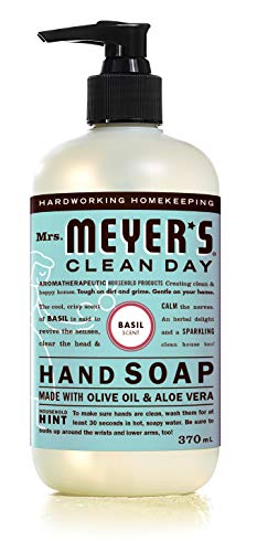 Mrs. Meyer's Clean Day Liquid Hand Soap, Cruelty Free and Biodegradable Hand Wash Made with Essential Oils, Basil Scent…