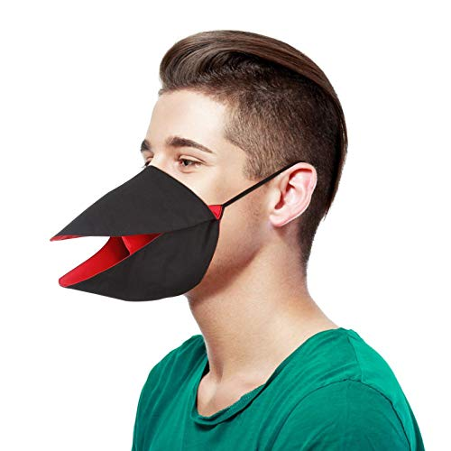 Koippimel 1/5/10pcs, Funny Creative Beak Cloth Face_Mask Reusable for Women Men, Adults Cute Facial_Masks Washable for Nose and Mouth Protection, Anti-Dust, 1123 Style_099