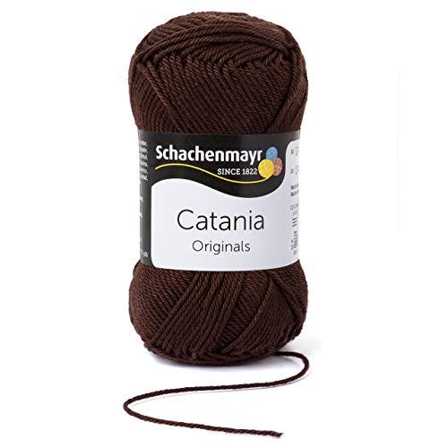 Schachenmayr Catania 9801210-00162 kaffee Handstrickgarn, Häkelgarn, Baumwolle