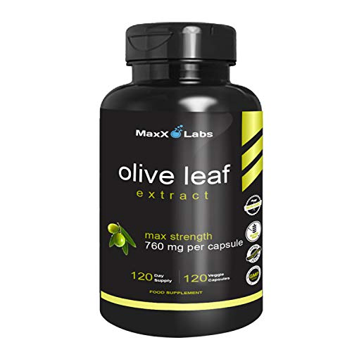 Best Olive Leaf Extract 750mg/120 Capsules - Super Strength Oleuropein Nature's Way to Support Immune System, Blood Pressure & Cardiovascular Health - Premium OLE Antioxidant Supplement Pills