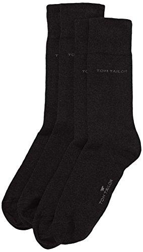 Tom Tailor Herren Socken 2 er Pack 9002 / Tom Tailor men basic cotton 2 pack, Gr. 43-46, Schwarz (black 610)