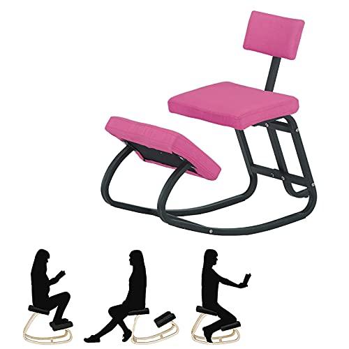Silla de Rodillas, Mejora tu Postura sentada para el Hogar y la Oficina Silla ergonómica con Respaldo Alivia el Dolor de Espalda Mejora la Postura