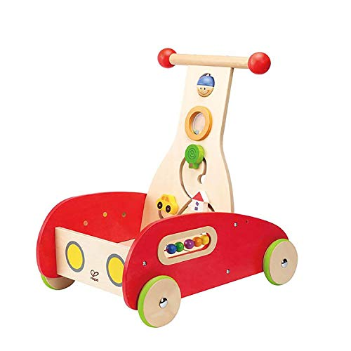 Read About Hape Toys Toddler Baby Push & Pull Toy Wonder Walker Cart with Wooden Blocks