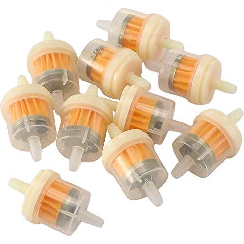 yyuezhi 10 Stücke Inline Kraftstofffilter Flüssigkeitsfilter Benzinfilter Benzinfilter Universal Inline Kraftstofffilter Benzinfilter Benzinfilter Mit Magneten für Motorrad Auto Auto Roller