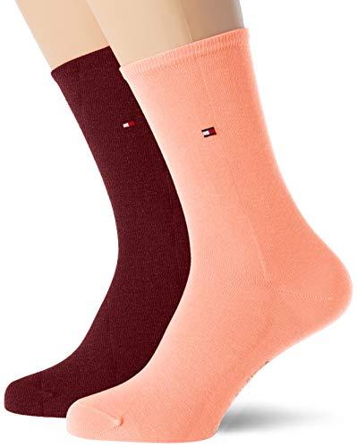 Tommy Hilfiger Frauen Casual Socken, Winetasting, 35/38 (2er Pack)