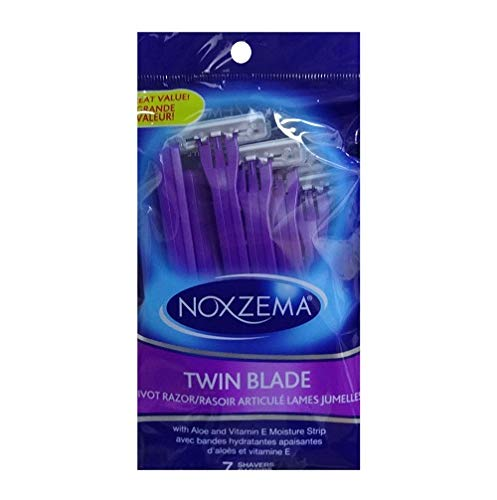 Dollaritem New 824529 Noxzema Twin Blade Razors 7Pk (-Pack) Shaving Wholesale Bulk Health and Beauty Shaving Acne Wash