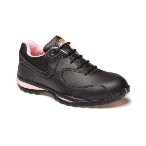 Dickies Zapatillas de Trabajo/Seguridad Laboral Modelo Ohio Para Mujer (42 EU/Negro/Rosa)