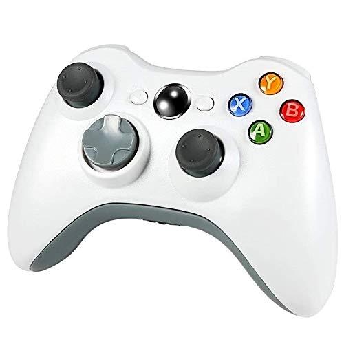 CHANGTRANSLATION Controllo Vibrazione del Gamepad Wireless .Maniglia Confortevole e Bella (Color : White)