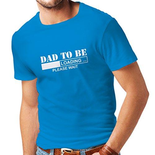 lepni.me Camisetas Hombre Padre Futuro, Anuncio de Embarazo, Ideas de Regalos Divertidos para Papi (X-Large Azul Blanco)