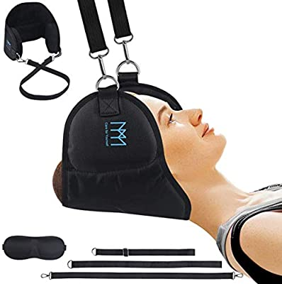 Neck Head Hammock, Cervical Traction Device for Neck Pain Relief Relaxation and Physical Therapy, High Quality Safe Durable Hammock for Man and Women