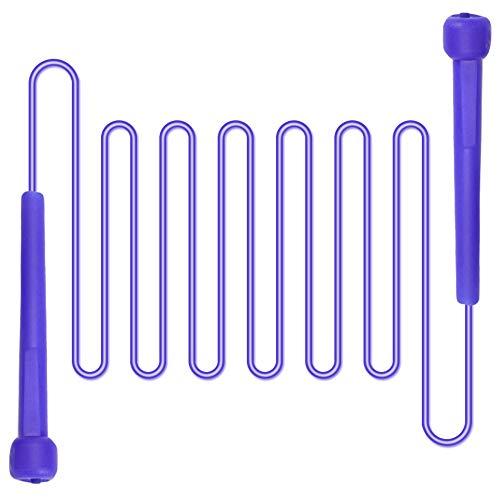 Springseil, für Fitness und Gewichtsverlust, Erwachsene und Kinder, Einstellbare Länge, Blau