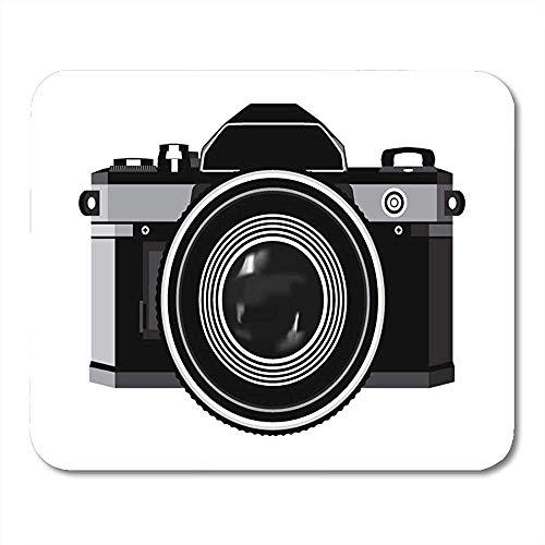 Mausemat Objektiv Fotografie Klassische Fotokamera Schwarz-Weiß-Fotos Mauspads Bürobedarf Notebooks Desktop-Computer Matten 25X30Cm