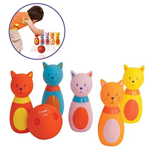 Ludi - 3450 - Gioco Del Bowling Per Bambini (Tema Gattini)