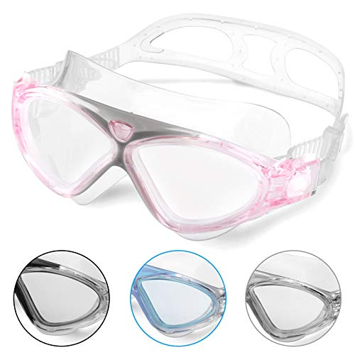 Swimming Goggles,Adult Swim Goggles Anti Fog No Leakage Clear Vision UV Protection Anti Slip Easy to...