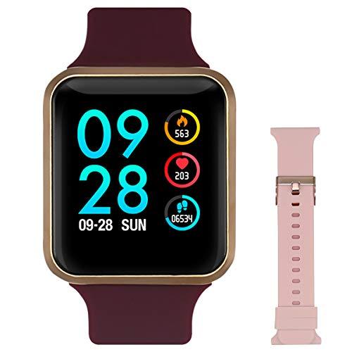 Bebinca Smart Watch für Frauen Fitness Armbanduhr Voller Touchscreen IP68 Wasserdicht Fitness Tracker Sportuhr mit Schrittzähler Pulsuhren Stoppuhr für iOS Android