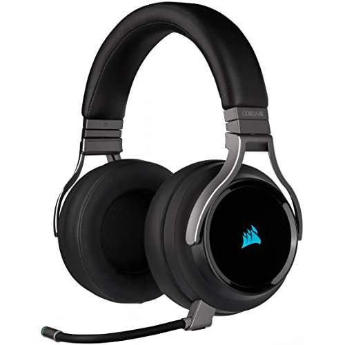 Corsair Virtuoso RGB Wireless Alta Fedeltà Cuffia Gaming, 7.1 Surround Audio, Compatibili con PC, Xbox One, PS4, Nintendo Switch e dispositivi Mobile, Nero