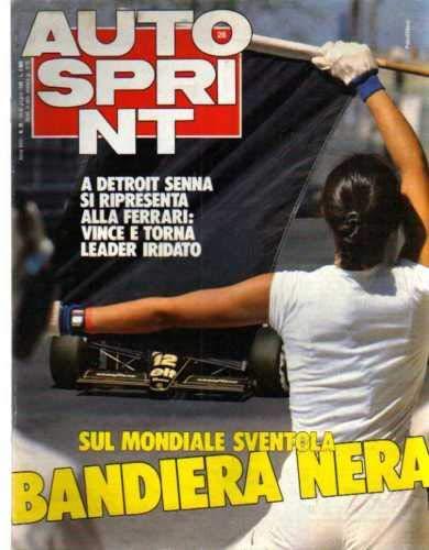Autosprint 26 del Giugno 1986 Senna, Zanussi,Speciale estate l'isola delle scoperte