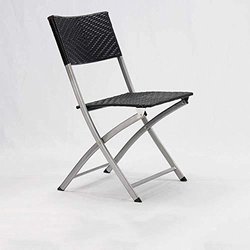 zyy Patio sillas Plegables al Aire Libre Muebles de jardín Silla de Mimbre Silla Plegable Bistro Cubierta All Weather jardín de Mimbre Silla Plegable sillas apilables,D