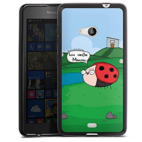 DeinDesign Silikon Hülle kompatibel mit Microsoft Lumia 535 Hülle schwarz Handyhülle Biene YouTube Youtuber