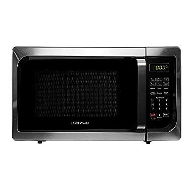 Farberware Classic FMO09AHTBKC 0.9 Cubic Foot 900 Watt Microwave Oven, Stainless Steel/Black