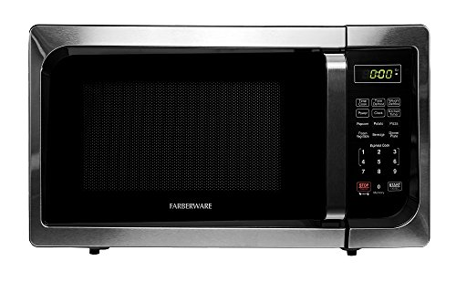 Farberware 900-Watt Microwave Oven, 0.9-Cu. Ft, Stainless Steel