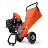 EFCUT C30 Mini Wood Chipper Shredder Mulcher, 7 HP 212cc Gasoline Engine, 3' Max Wood Diameter, 15:1 Waste Reduction Ratio, 2-Year Warranty After Product Registration