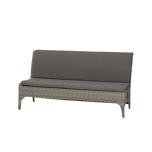 Siena Garden 508523 Calado 3er Sofa, Modul Armlehne rechts, Taupe-grau, 77x183x96 cm