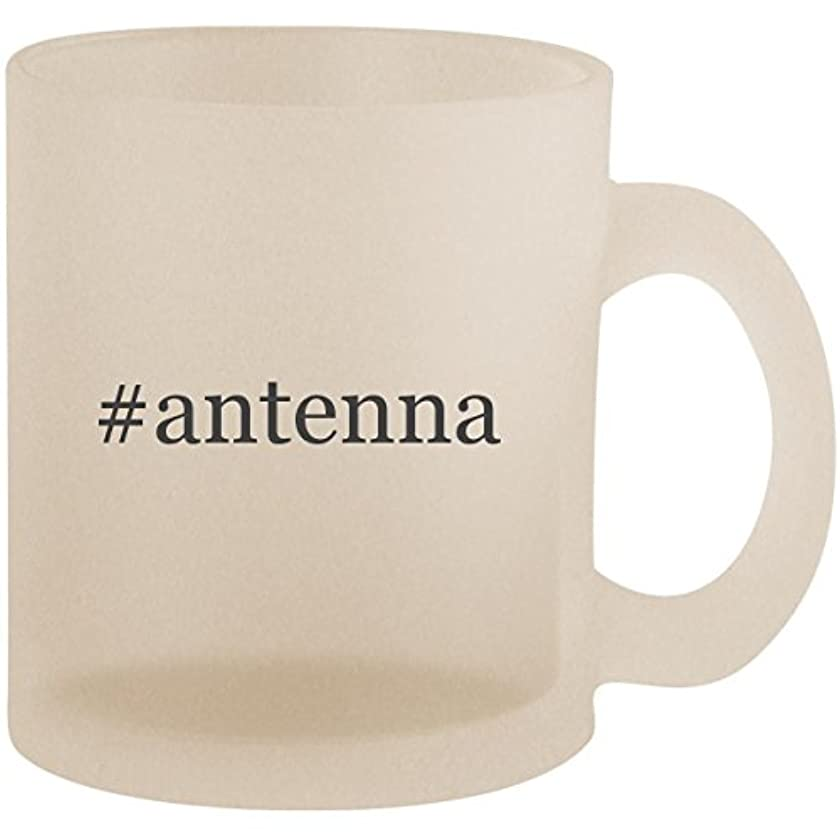 #antenna - Hashtag Frosted 10oz Glass Coffee Cup Mug