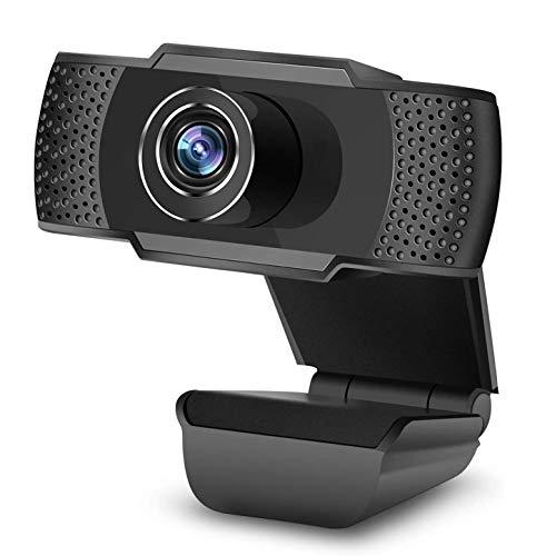 VESSTT Webcam 1080P con Micrófono, Cámara Web USB HD, Reducción de Ruido Dual, para Video Chat, Grabación, Reuniones, Compatible con PC Windows, Computadora Mac