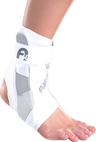 Aircast A60 Ankle Support Brace, Right Foot, White, Medium (Shoe Size: Men's 7.5 - 11.5 / Women's 9 - 13) by Aircast